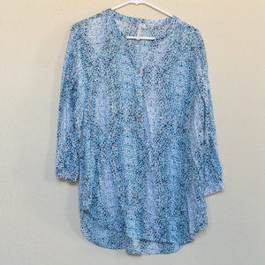 Grand & Greene Blue Tunic with Gold Accents